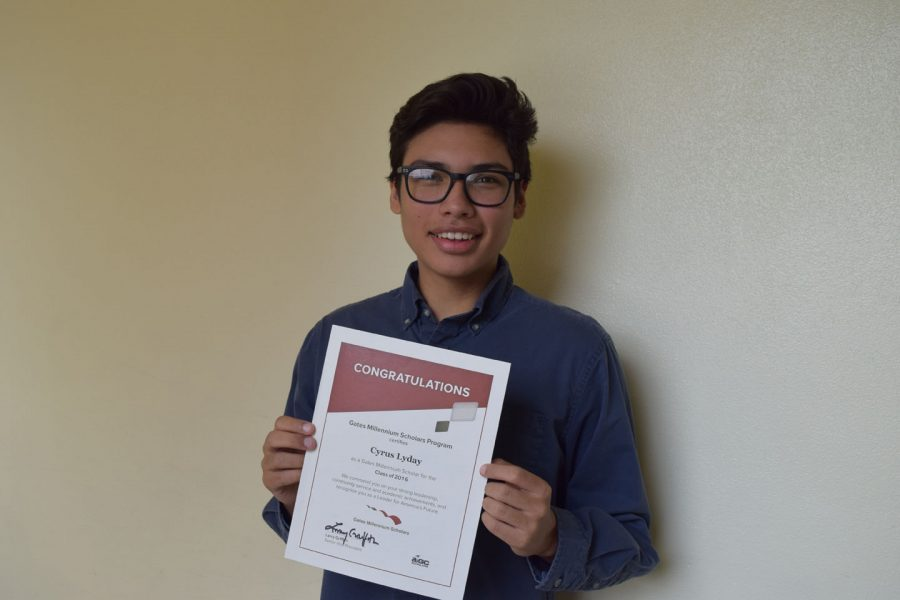 Cyrus Lyday awarded Gates Millenium scholarship