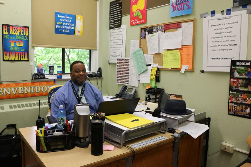 Vice principal Darryl Miles in his office. Anna Rollins Photo