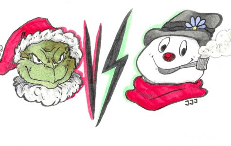 The Grinch vs Frosty the Snowman