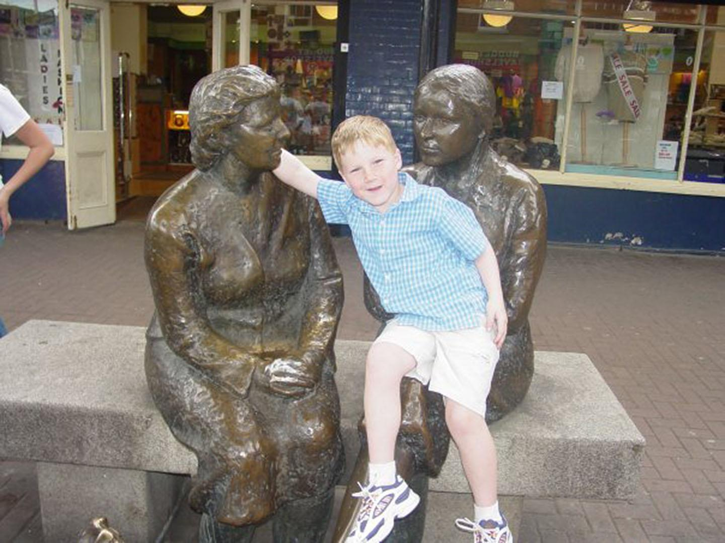 Conor during a simpler time, before the inconveniences of the world made him a cruel, cold man
