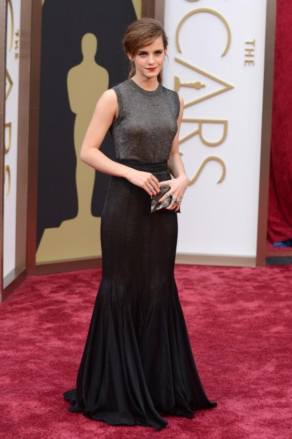 Emma Watson on the red carpet at the 2015 Academy Awards