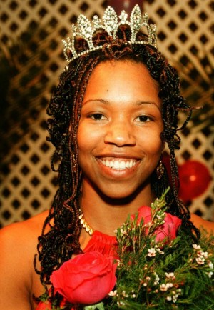 Amber Starks in 1999 when she was crowned Rose Festival Queen