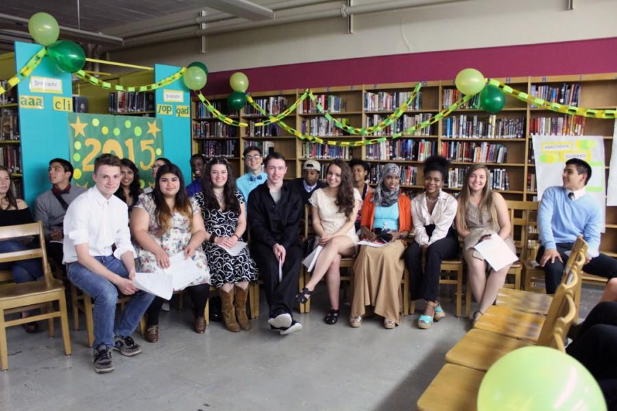 Seniors in the AVID program are honored at a special recognition ceremony May 26 in the library
