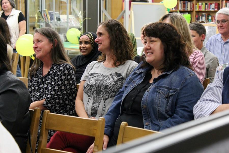 Counselors Lori Butler, Jennifer Van Kopp and Heidi Tolentino enjoy the festivities.