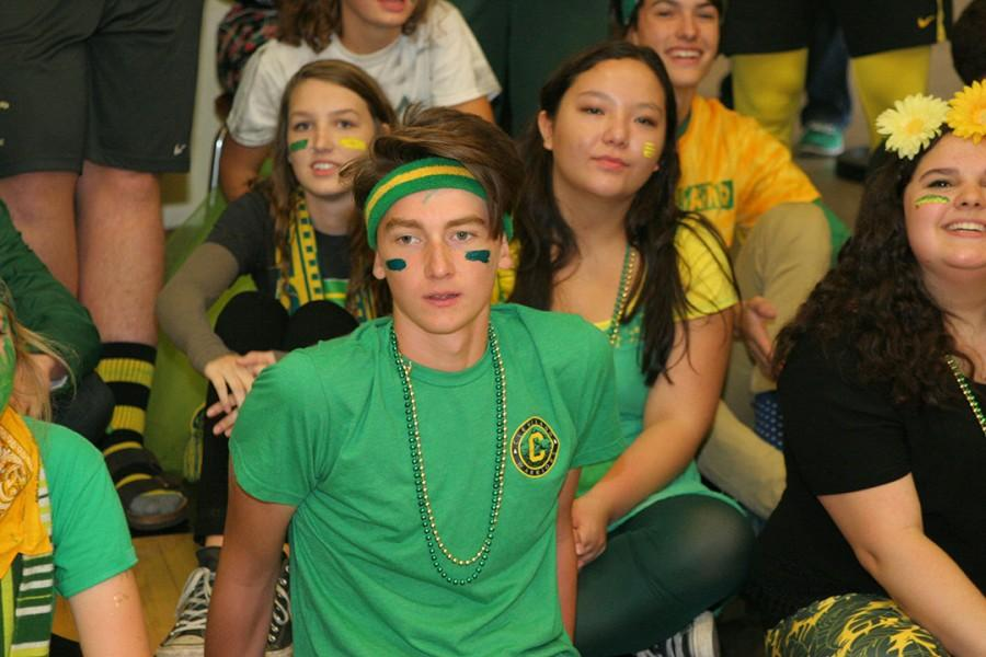 Junior leadership student Oliver Aguirre looks dreamy in his spirited face paint
