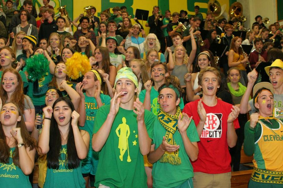 The junior section rocks out in roll call