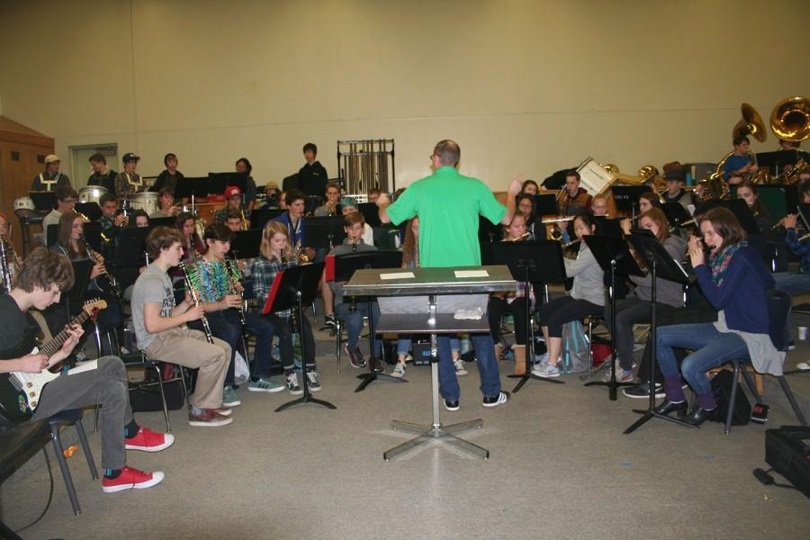 Gary Riler leads determined students in extensive band practice