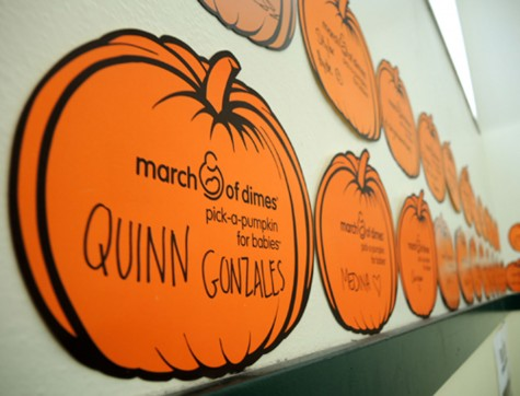PUMPKINS - Cleveland FBLA club raises money for the March of Dimes Foundation. Anna Rollins photo.