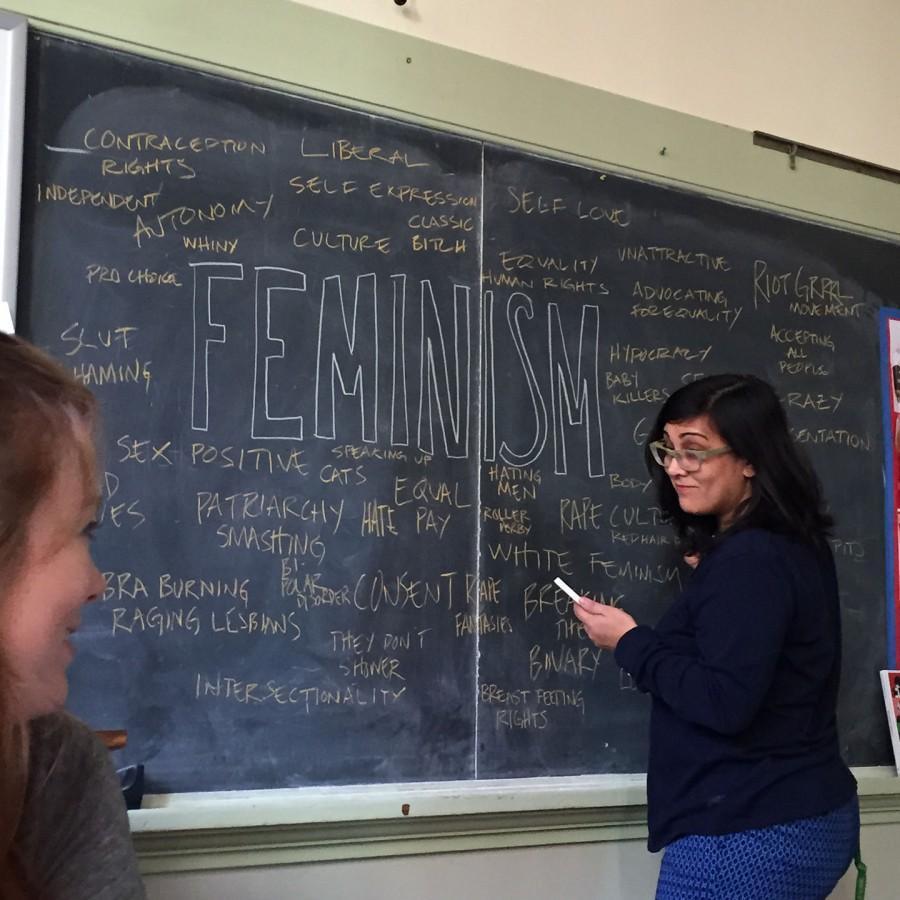 Anne+Dierker+getting+in+her+teaching+zone.