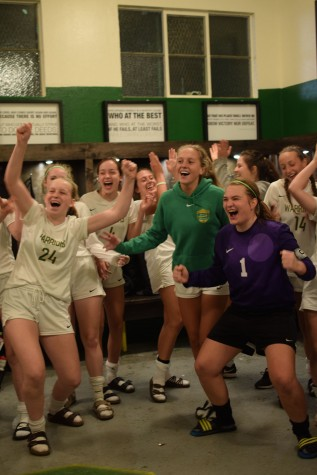 Girls varsity soccer wins PIL and first playoff game