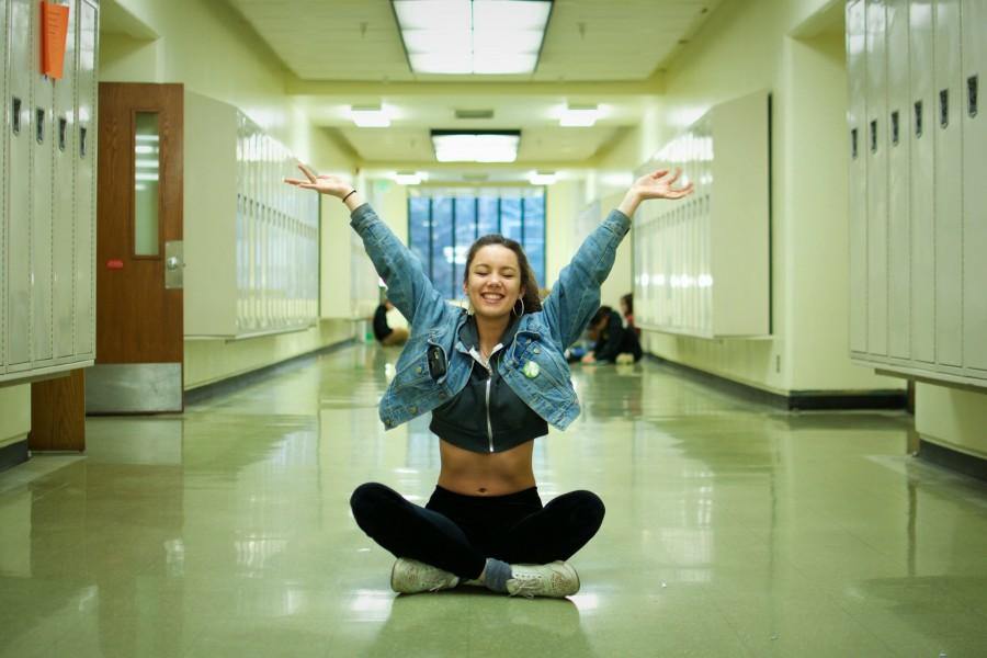 CRUND QUEEN- Senior Siana Ramos in the halls of Cleveland. Meg Matsuzaki photo.