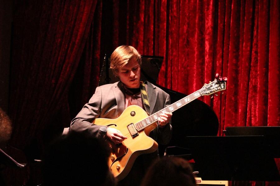 John Morud-Williamson, The Premier Septet's talented guitarist. Leah Cromett photo.