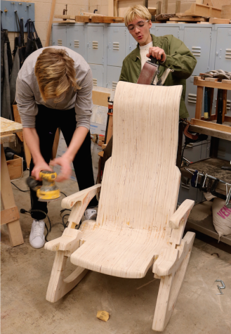 Woodshop class makes a treasure from trash