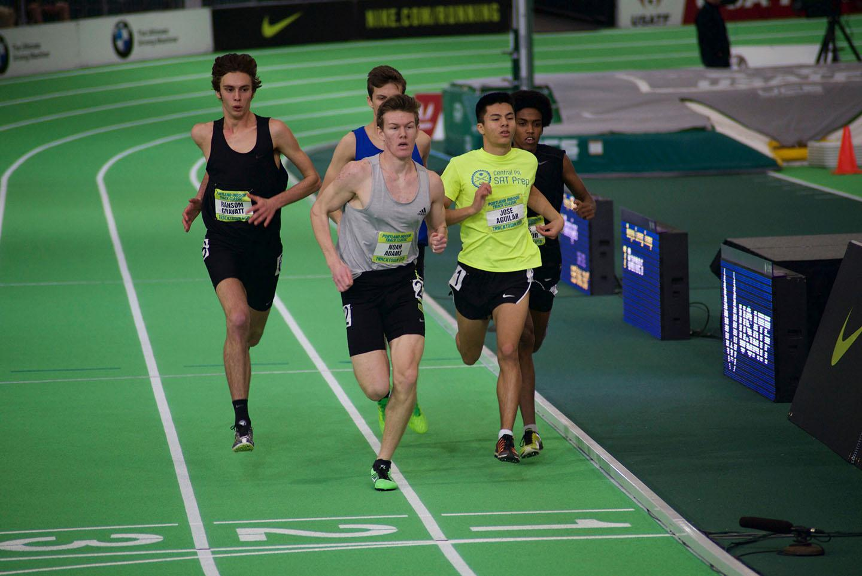 Noah Adams races to the finish