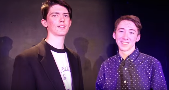 FUNRAISING - William Balmer and Jonah Leidigh in a promotional video for LOL.