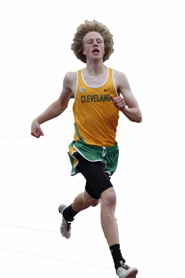 Roberts on the run.