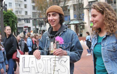 Students Participated in Anti-Trump Protest