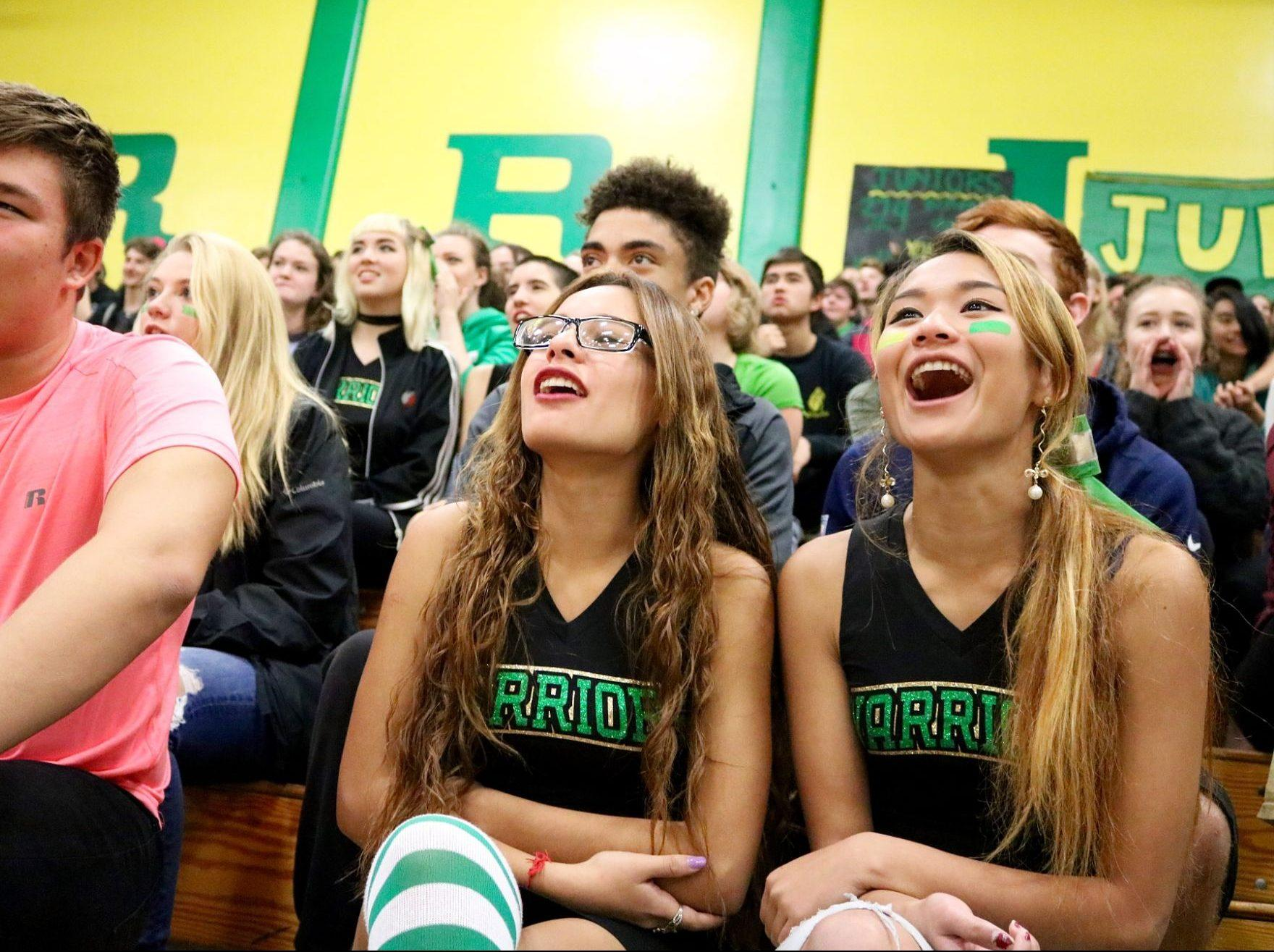 Cleveland students go back to the basics sporting the classic green and yellow football stripes rather than double stripes or dots.