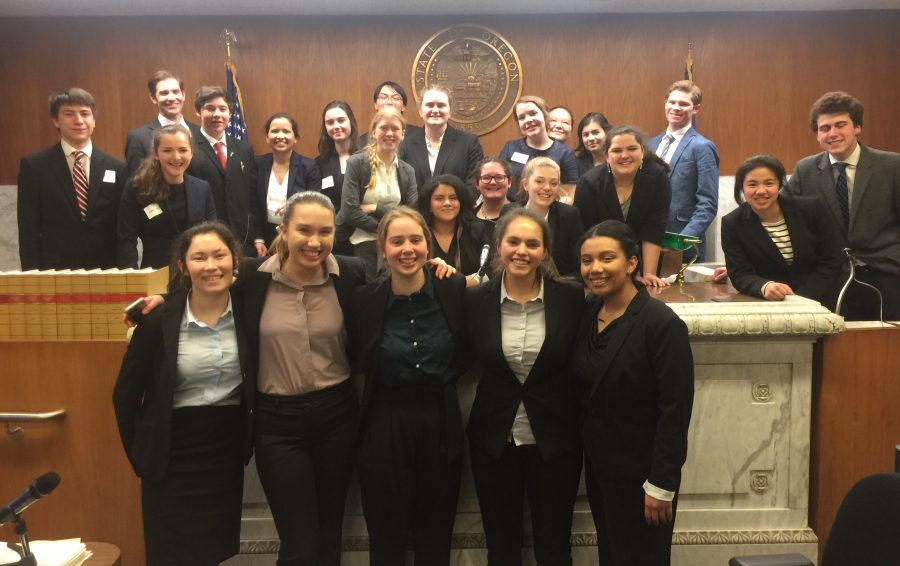 Mock Trial: Gold and Green teams.