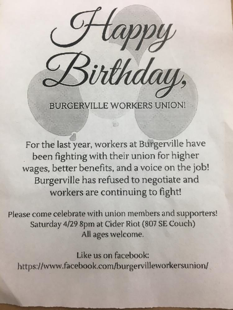 Photograph+of+the+flyer+handed+out+at+the+Burgerville+Boycott+demonstration.+