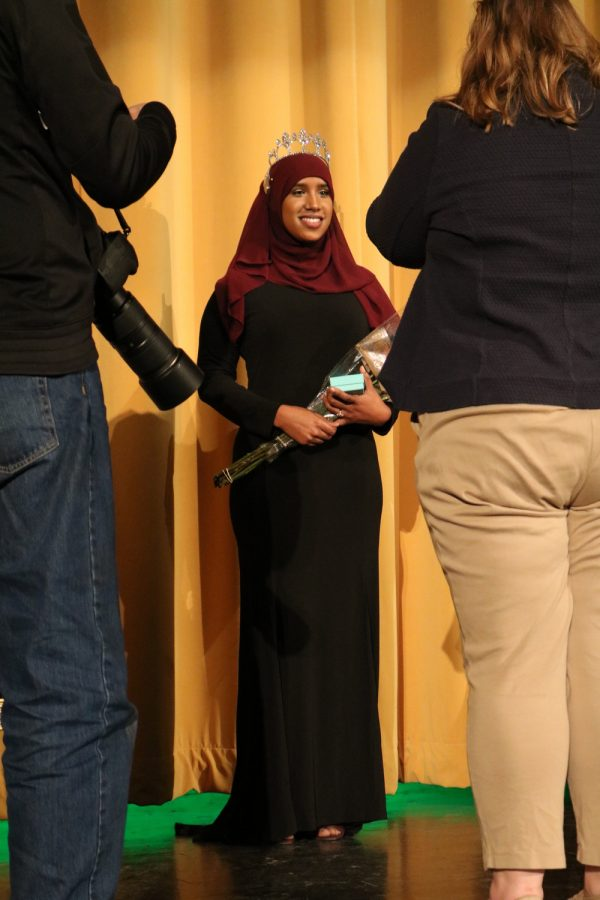 Senior Biftu Amin stands proud after being named Cleveland's 2017 Rose Princess.