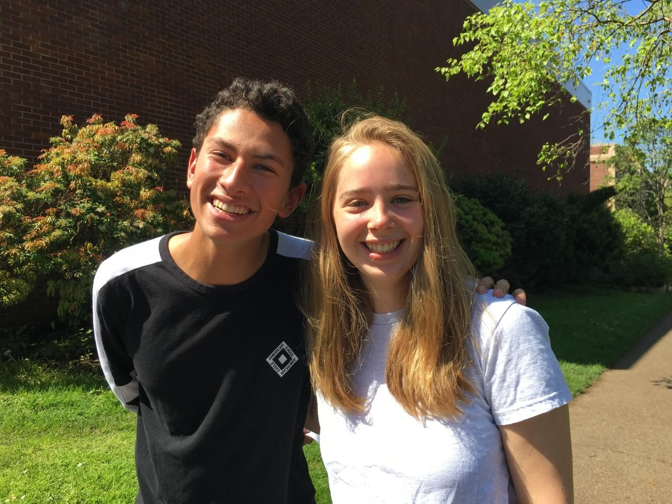 Senior Class co-presidents Adam Nayak and Emily Swinth. Image provided by Emily Swinth.