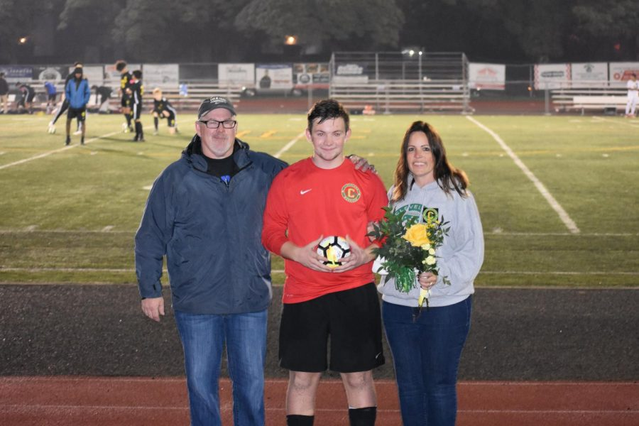 The boys soccer team played Roosevelt on Oct. 17 and won 3-0. It was senior night, and all 11 seniors on the team were honored before the game and started together..