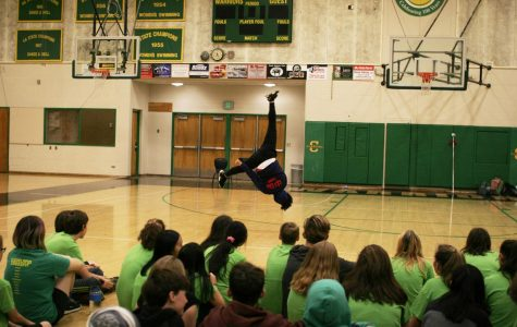 Kung Fu Master Xiao Long shows off his skills in front of students