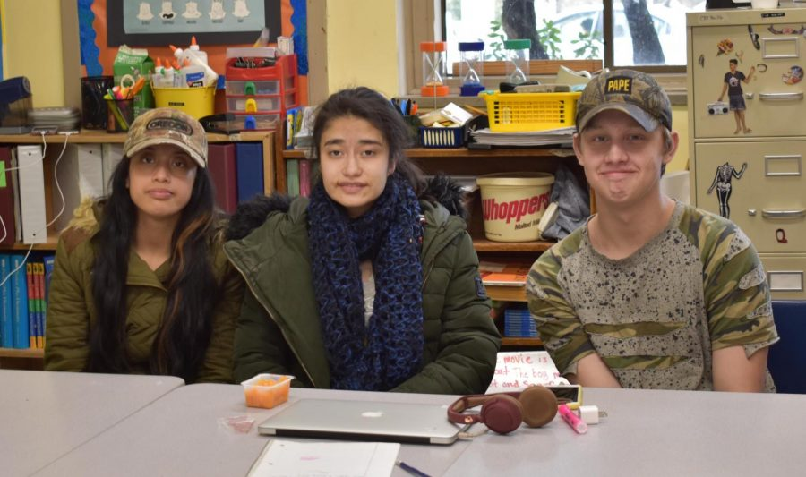 (Left to right) Melissa Carrasco-Casillas, Jessica Pineda, and Jaden Lee sitting together in their Transitional Skills class. Mckenzie Potter-Moen photo.