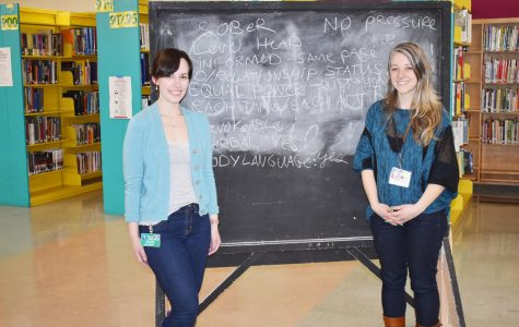 Confidential Advocates Julia Noble (left) from the Raphael House and Pamela Zigo from the Volunteers of America have been given the green light to help teens on campus. They will hold regular office hours starting April 10.