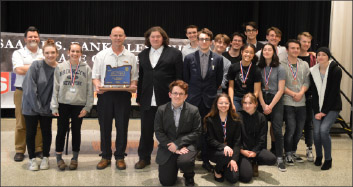 The Cannibals pose with their sixth state Speech and Debate title in the last seven years.