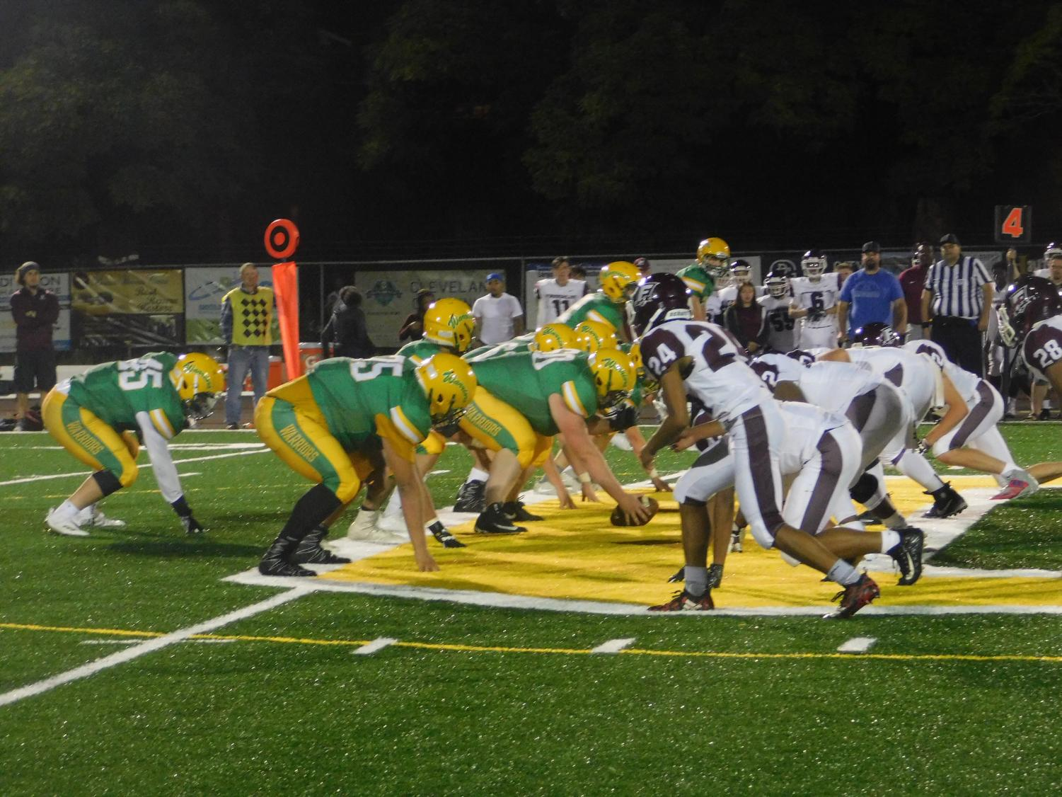 The Warriors on the drive against Franklin, Aug. 31 in the season opener. The Warriors lost a heartbreaker 20-14 in overtime.