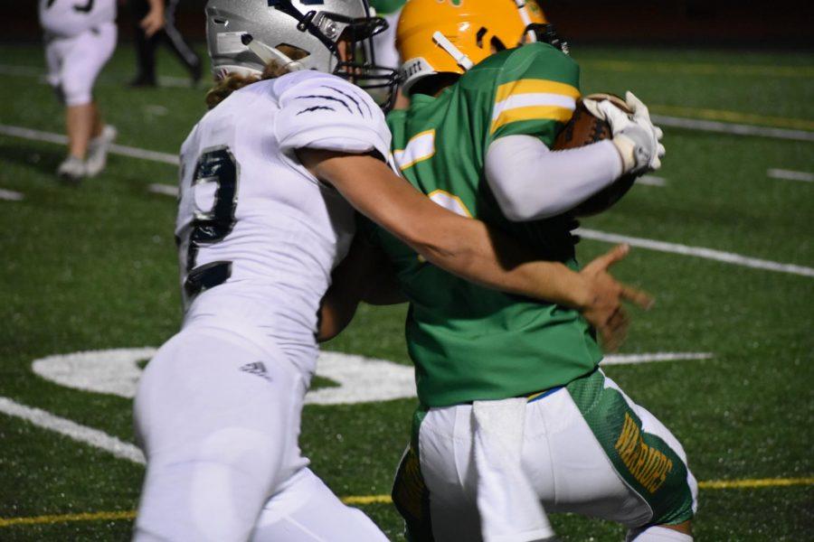 Ruben Valle II takes on a Wilsonville defender Sept. 14.