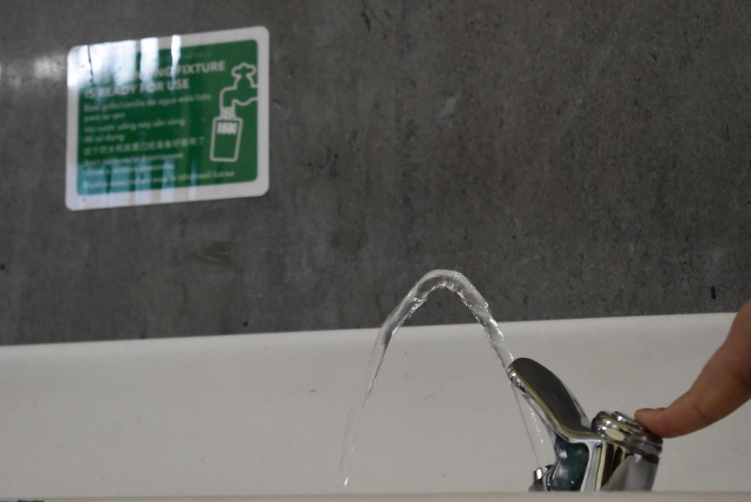 Students can now safely drink from several fixtures around the building.