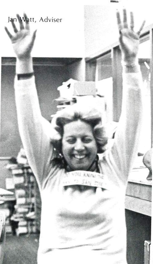 Jan in 1979 as the yearbook adviser