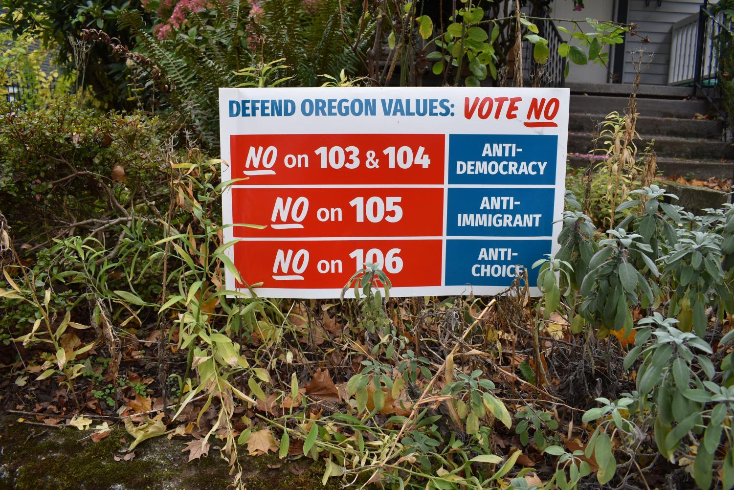 The liberal group Defend Oregon urged a