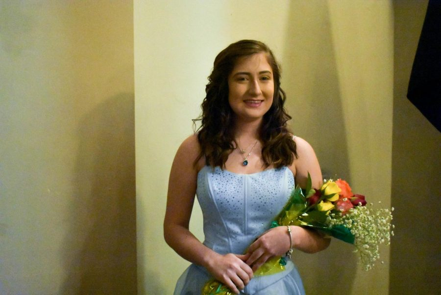 Zoey Weesner at the Rose Princess Assembly