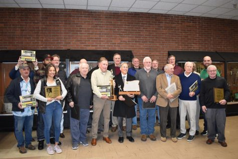 Members and representatives of the members of the 2020 Hall of Fame class, inducted on Feb. 21.