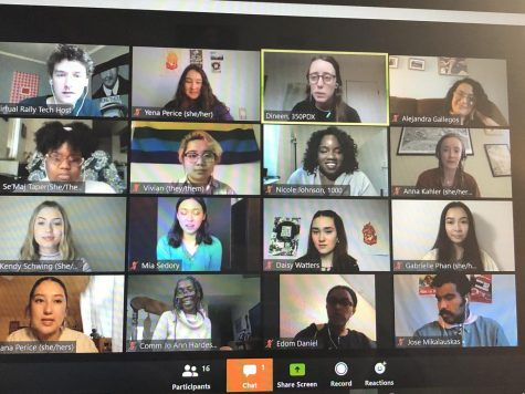 2020 youth organizers & rally participants during the virtual rally Earth Day live stream