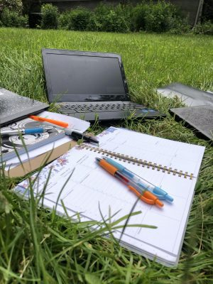 The tools of distance learning: Students had to have a computer in order to connect with their teachers and classmates once distance learning became mandated.