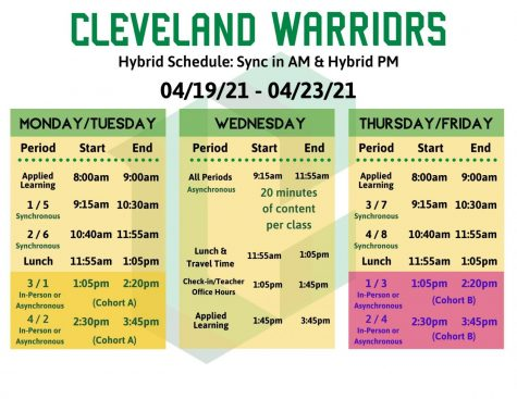 Hybrid Schedule Released for First Week Starting April 19