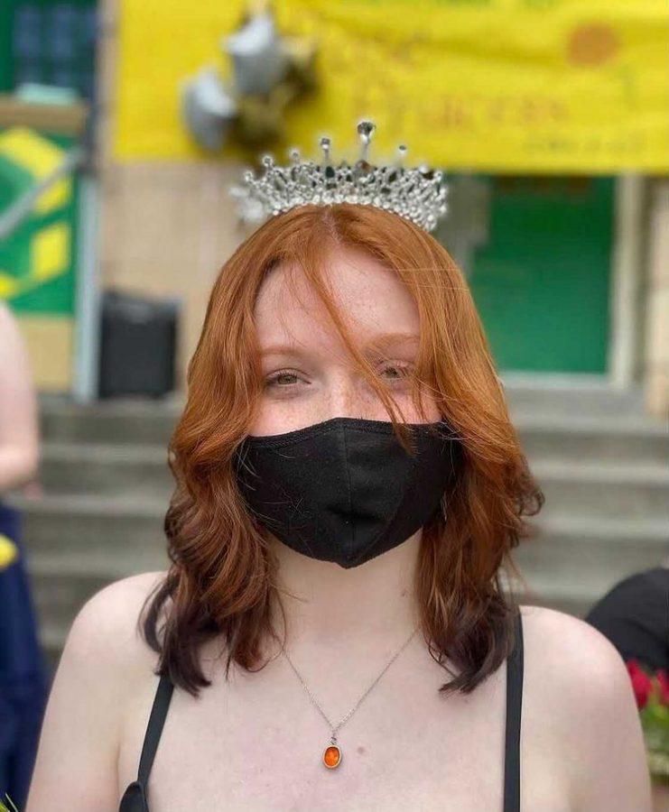 Rena Marthaler, Junior crowned Rose Princess on Cleveland's front steps