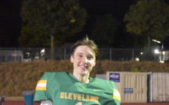 Senior Daniel Suhr photographed following Cleveland's 38-0 victory against Wells