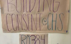 A poster at school directs students to the Building Consent Culture class.