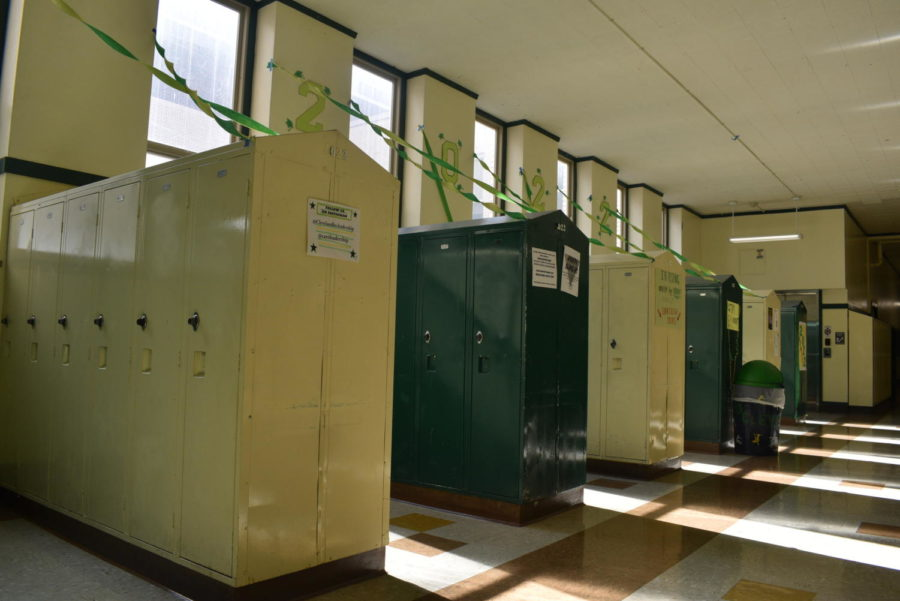 Cleveland lockers of Senior Hall.